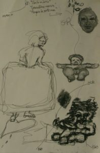 Preparatory sketches for The Infanta and Der Zwerg